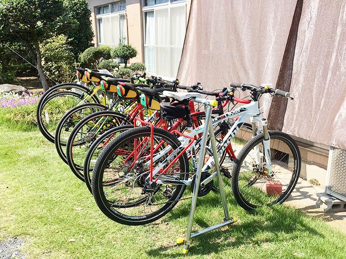 並んだ自転車